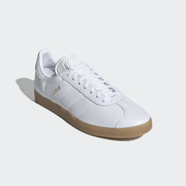 adidas gazelle blancas suela caramelo