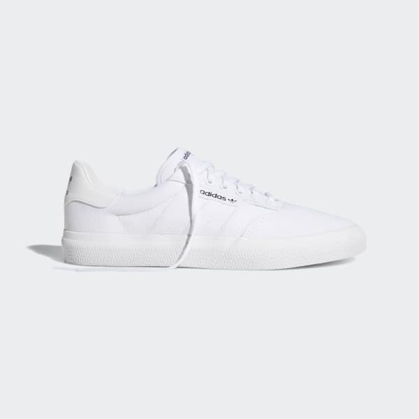 adidas skateboarding 3mc vulc baskets blanc
