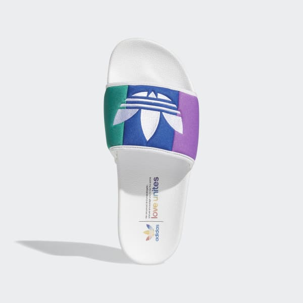 adidas Adilette Pride Slides - White