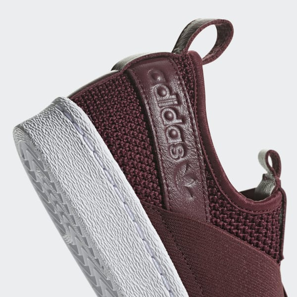 Adidas Superstar Slip On Burgandi Red Skateboarding Shoes