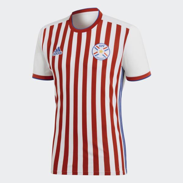 adidas Camiseta Oficial Selección de Paraguay Local 2018 - Blanco ... bedf8bde95eb4