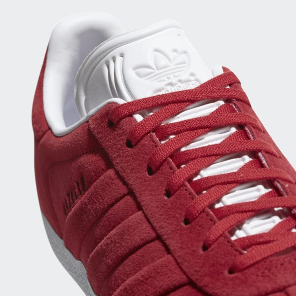 9a85a2b9d adidas Gazelle Stitch and Turn Shoes - Red | adidas UK