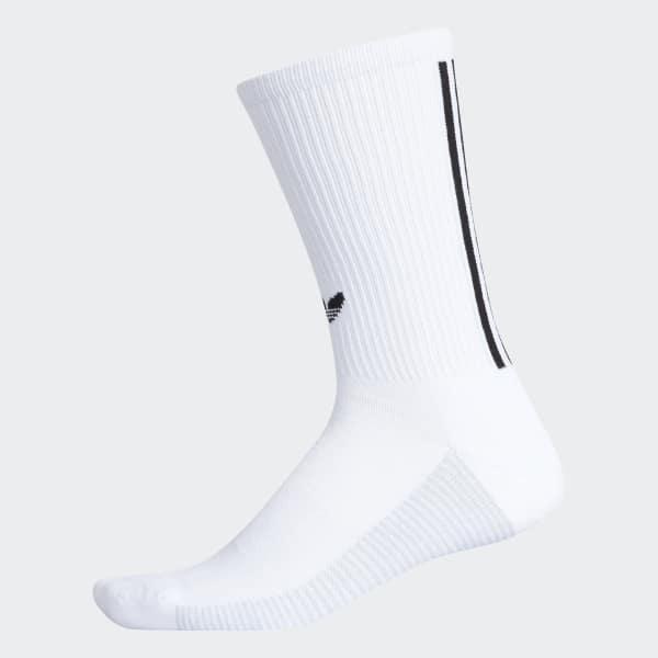 Adidas 3 Stripes Statement Crew Socks White Adidas Us