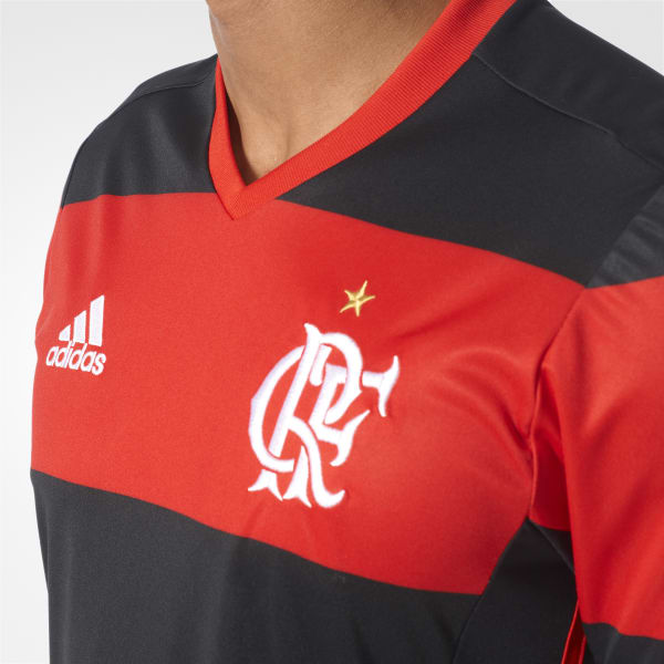 Camiseta de CR Flamengo Home - Negro adidas  e057e5b116094