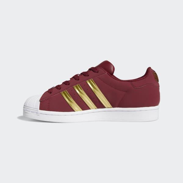 adidas Superstar Shoes - Burgundy