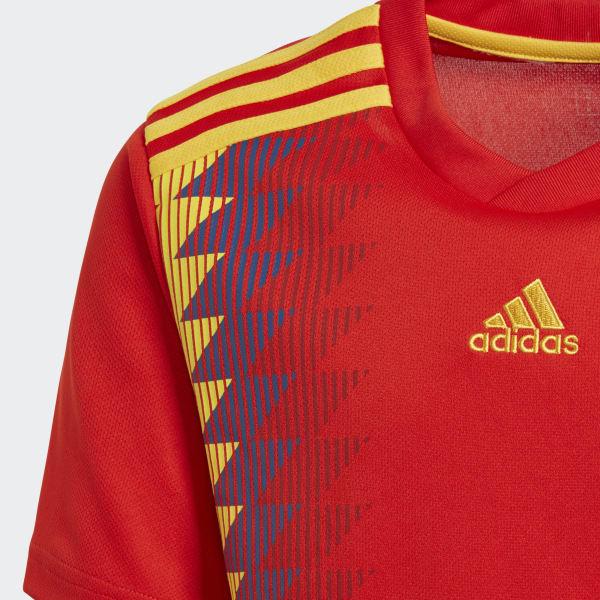 Camisa Oficial Espanha 1 Infantil 2018 - Vermelho adidas  7104a888b422f