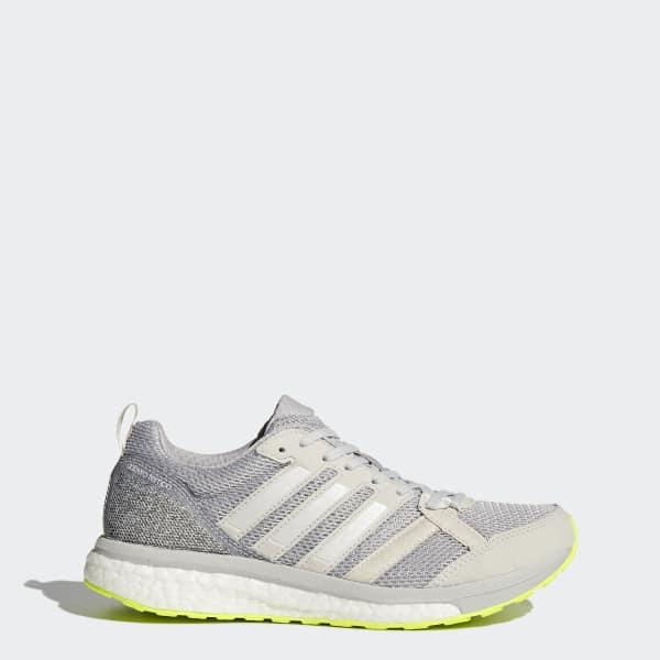online retailer b05af a3557 Adidas Homme Adizero Tempo 9 Chaussures De Course Baskets Sneakers Gris  Sports
