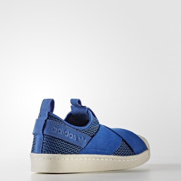 adidas Tenis Superstar Slip-On - Azul  16d2322ef2e97