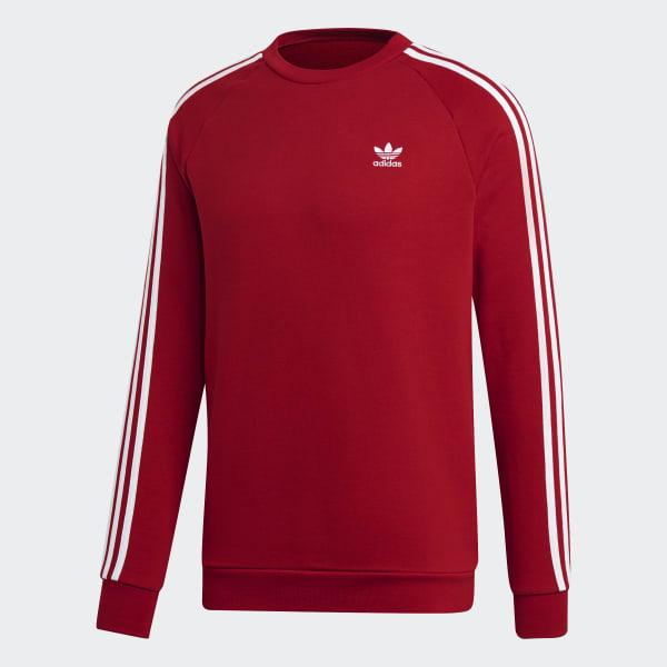 adidas 3 Streifen Sweatshirt Rot | adidas Deutschland