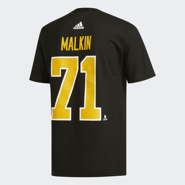 cb9d9e678 adidas Penguins Malkin Jersey Replica Tee - Black