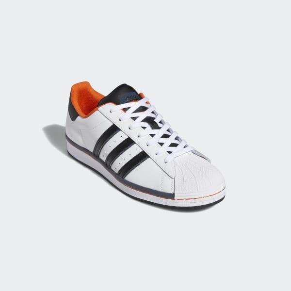 adidas superstar blanc orange