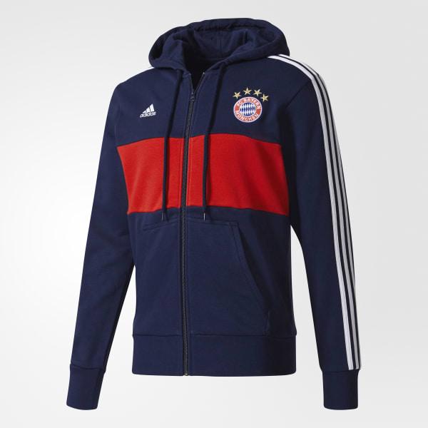 Casaca con Capucha FC Bayern Múnich - Azul adidas  9d10056fdae