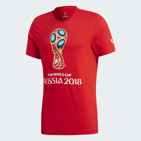 Camiseta Copa Mundial de la FIFA Emblem - Rojo adidas  80c108e84aa30