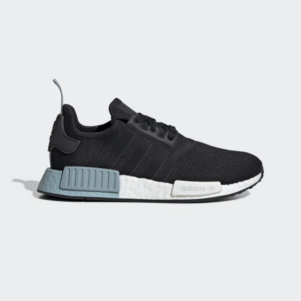 Women's NMD R1 Black and Blue Shoes