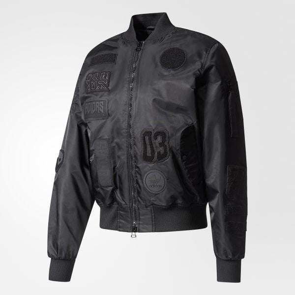 f35e08965 adidas Logo Padded Bomber Jacket - Black   adidas US