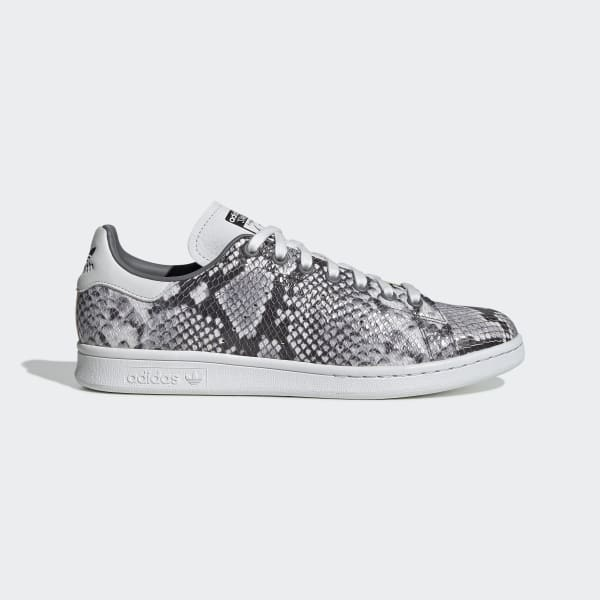 palo telescopio Encogimiento  Stan Smith White, Grey & Black Snakeskin Print Shoes | adidas US