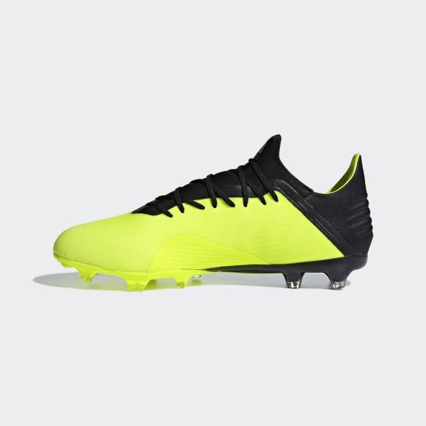 b1e5e4a14f06e Zapatos de Fútbol X 18.2 Terreno Firme - Amarillo adidas