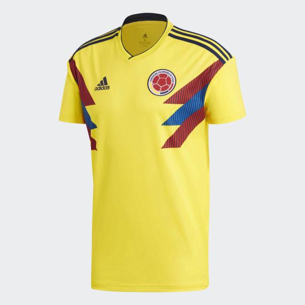 cbd928453be17 Camisa Oficial Colômbia 1 2018 - Amarelo adidas