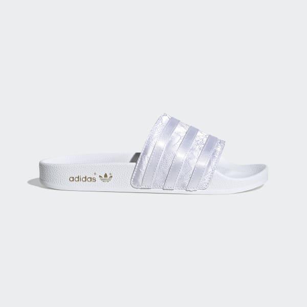 adidas Adilette Slides - White   adidas