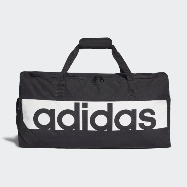 6409b909017cce adidas Linear Performance Duffel Bag Medium - Black | adidas New Zealand