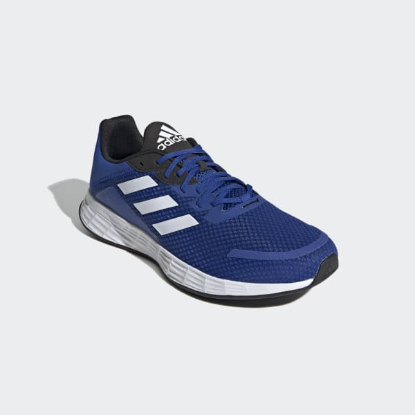 blue adidas running shoes