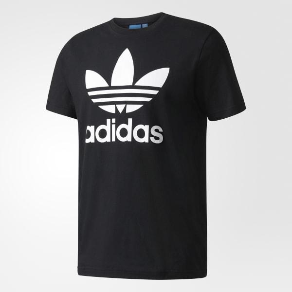 b23c39b09df Camiseta Original Trefoil - Preto adidas