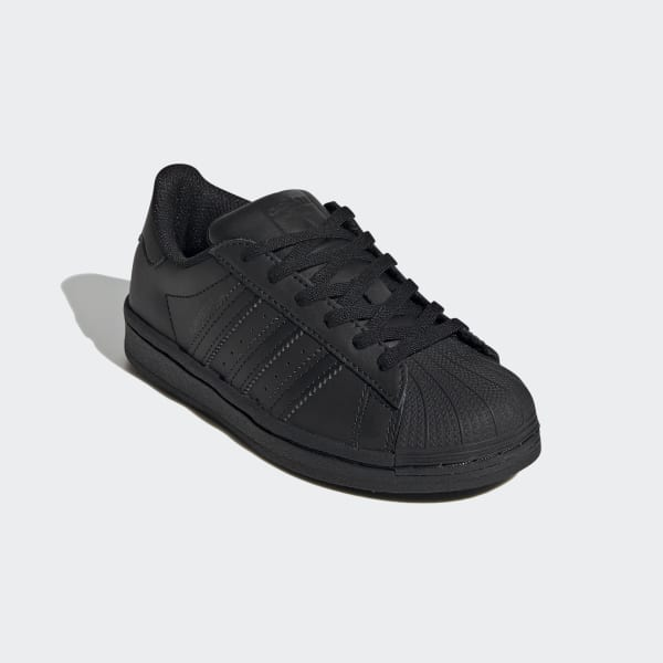 Kids Superstar All Black Shoes | adidas US