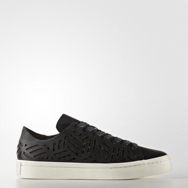 1bd2c1c26dd Sapatos Court Vantage Cutout Core Black   Core Black   Off White BY2956