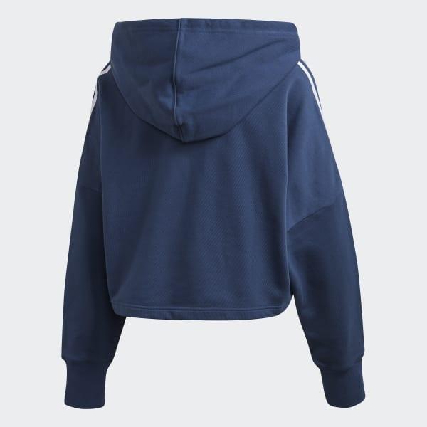 Adidas Cropped Hoody Night MarineWhite