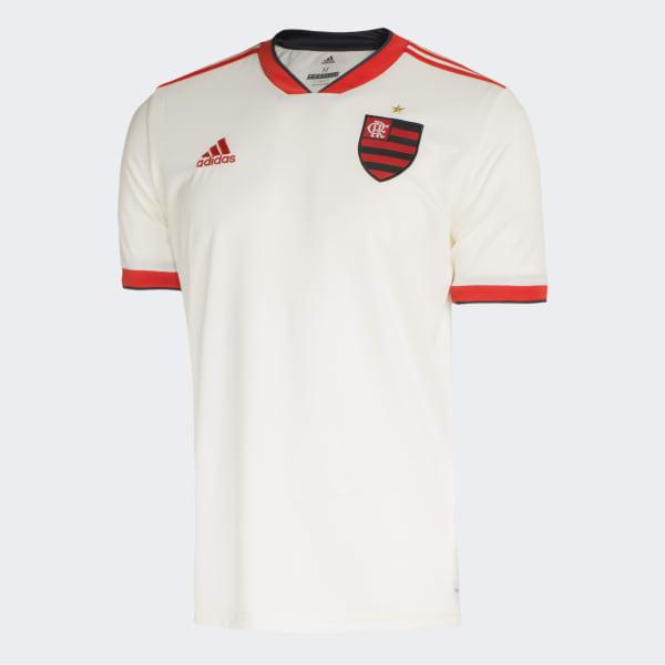 Camisa CR Flamengo 2 Oficial - Branco adidas  39cac971bd3b9