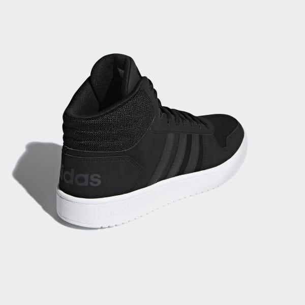 adidas Hoops 2.0 Mid Shoes - Black   DB0113   adidas US