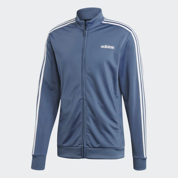 adidas Essentials 3 Stripes Track Jacket Tricot Blå