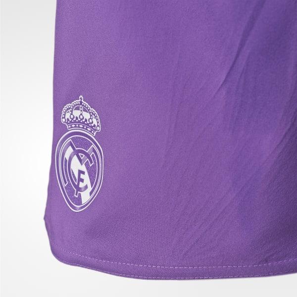 adidas Pantaloneta de Real Madrid Away - Morado  3f8089920d882