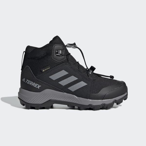 Terrex Mid Gore Tex Hiking Czarno Szare Buty Dla Dzieci Adidas Polska