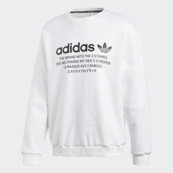 sports shoes ae3bf b3583 adidas NMD Crew Sweatshirt - White   adidas US