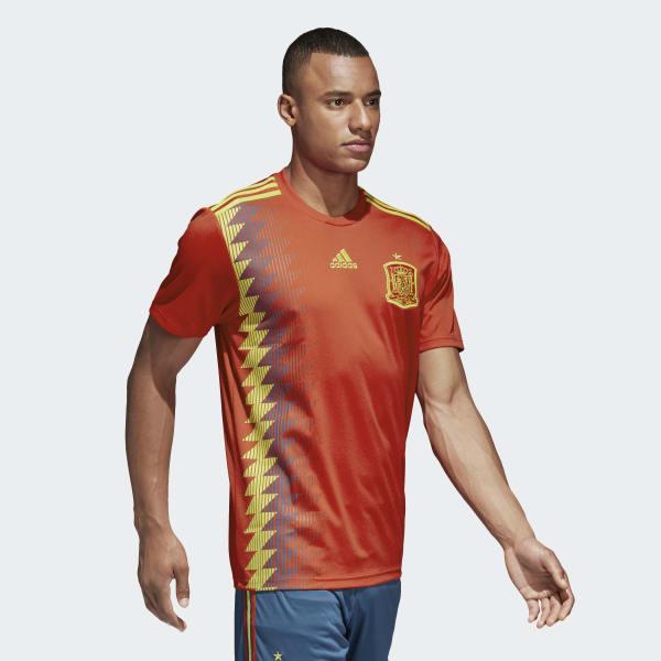 9678b4a5a8c38 adidas Camisola Principal de Espanha - Vermelho