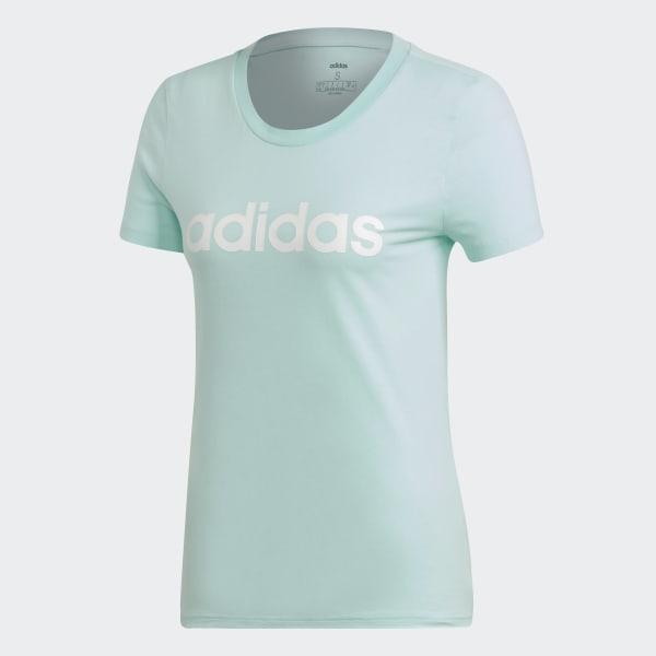 ef2dfd8479 adidas Tričko Essentials Linear - tyrkysová