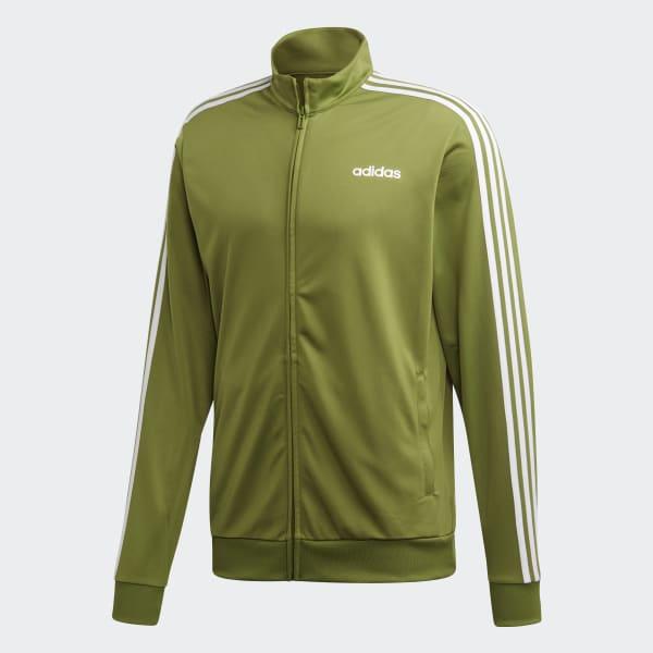 adidas Essentials 3 Streifen Tricot Trainingsjacke Grün