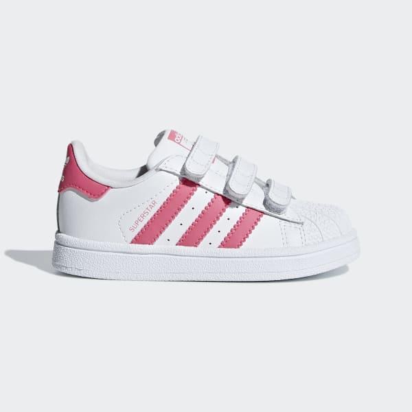 mandato handicap ulteriore  Toddler Superstar White & Pink Hook & Loop Shoes | adidas US