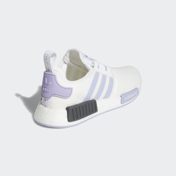 Women S Nmd R1 White And Lavender Shoes Adidas Us