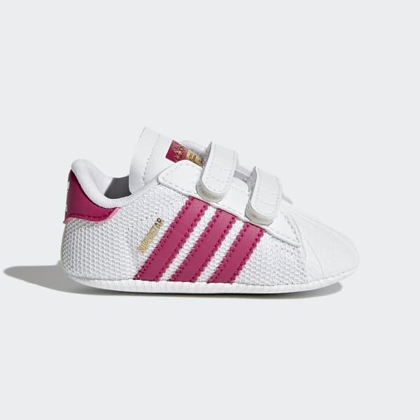 Adidas Originals Superstar Crib Ftwr White Bold Pink Blanco
