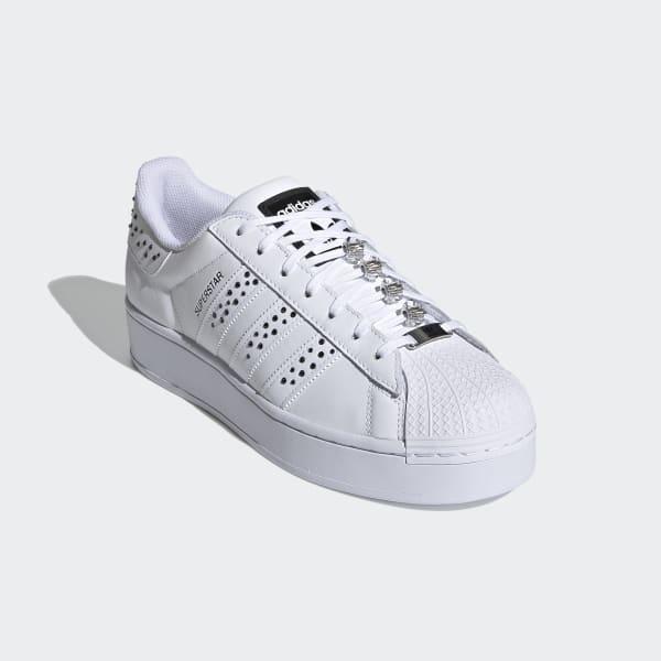 Guerrero bosque superficie  adidas Swarovski Superstar Bold Shoes - White   adidas US