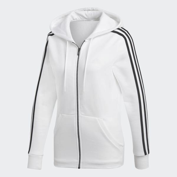 adidas 3-Stripes Hoodie - White | adidas US
