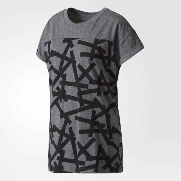 5589fcec1b Camiseta Aop - Cinza adidas