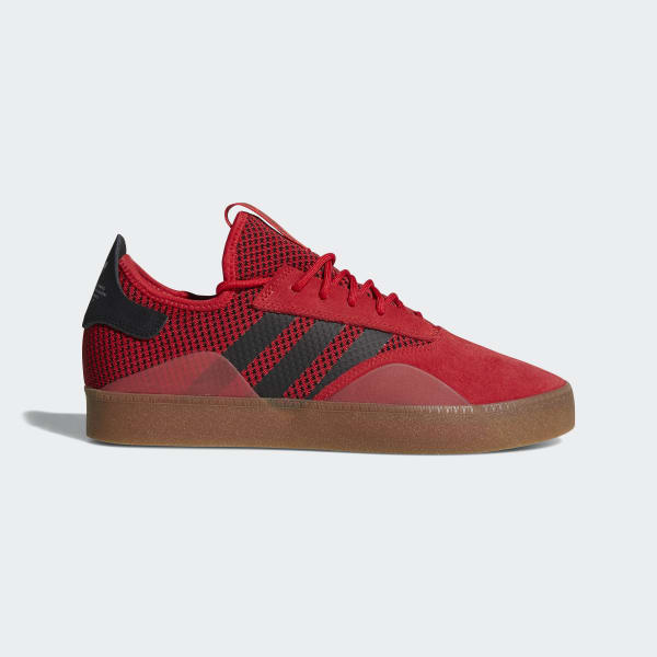 NEW! adidas Originals 3ST.001 SHOES CQ1085  Scarlet / Core Black / Gum Red a1