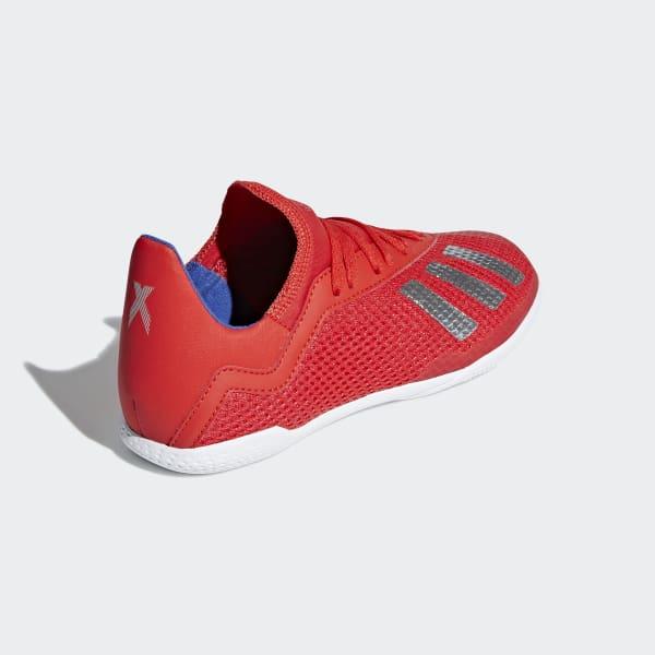 Chuteira Adidas X 18.3 IN Futsal Preta e Vermelha