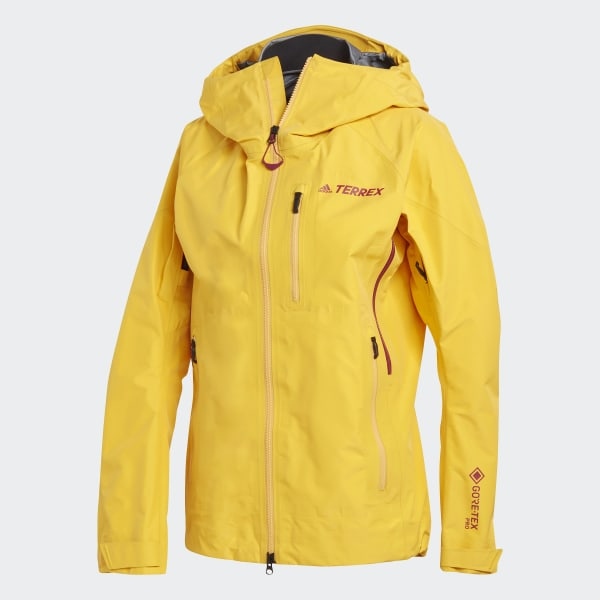 adidas Terrex Techrock GORE TEX PRO Rain Jacket Yellow