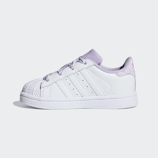 adidas Originals Sko Superstar Hvid m. Purple Glow