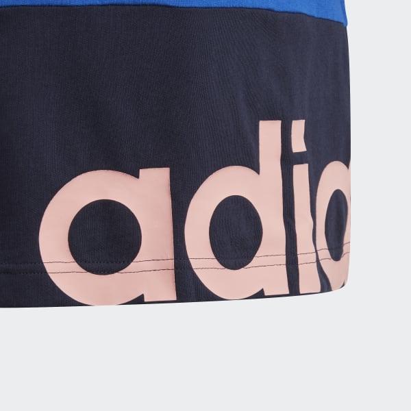 adidas Linear Colorblock T Shirt Blau | adidas Austria