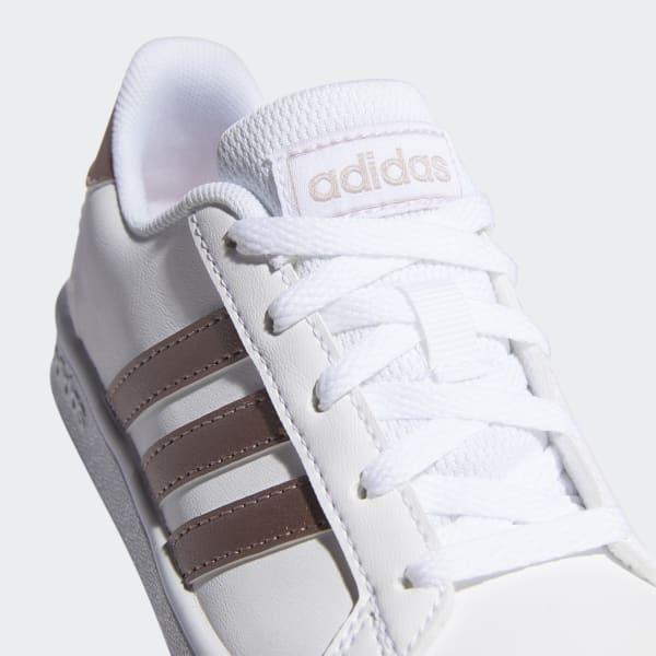 Chaussures Grand Court blanches et métallique pour enfants ...
